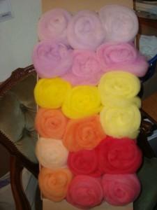 Vorkardierte Farben für Batts