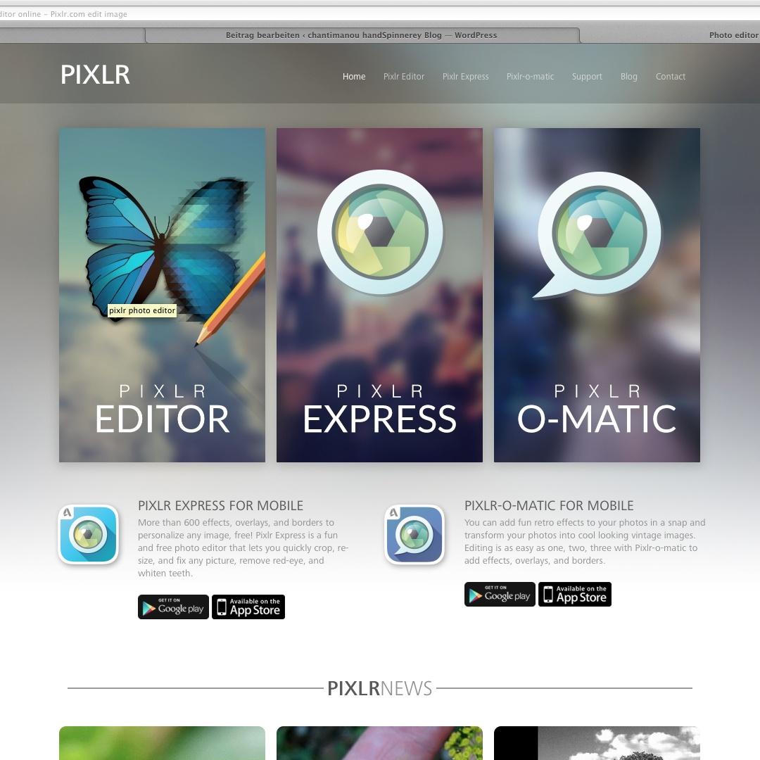 Bilder und Collagen mit pixlr.com | chantimanou handSpinnerey