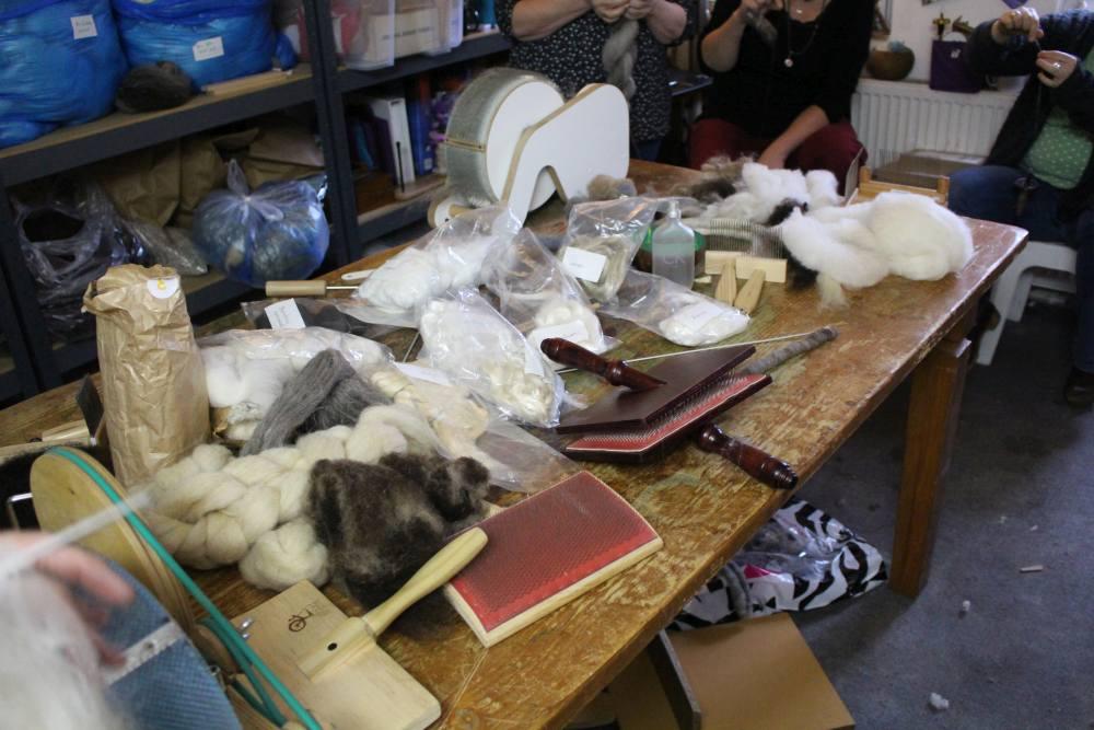 Zum Mischen stand eine große Auswahl unterschiedlicher Fasern zur Verfügung