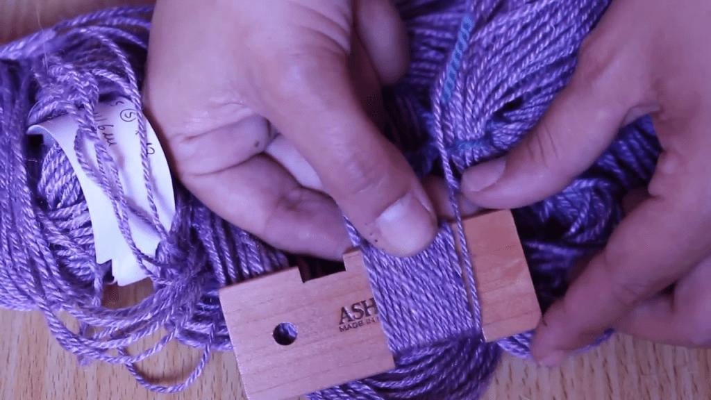 WPI messen bei handgespesponnenen Garnen