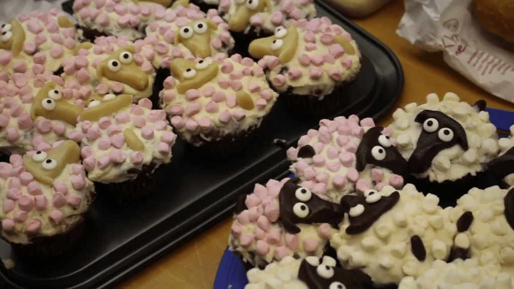 Schafcupcakes beim Buffet des Sommerspinnfest 2017